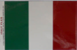 Italy Country Flag Rectangular Decal.
